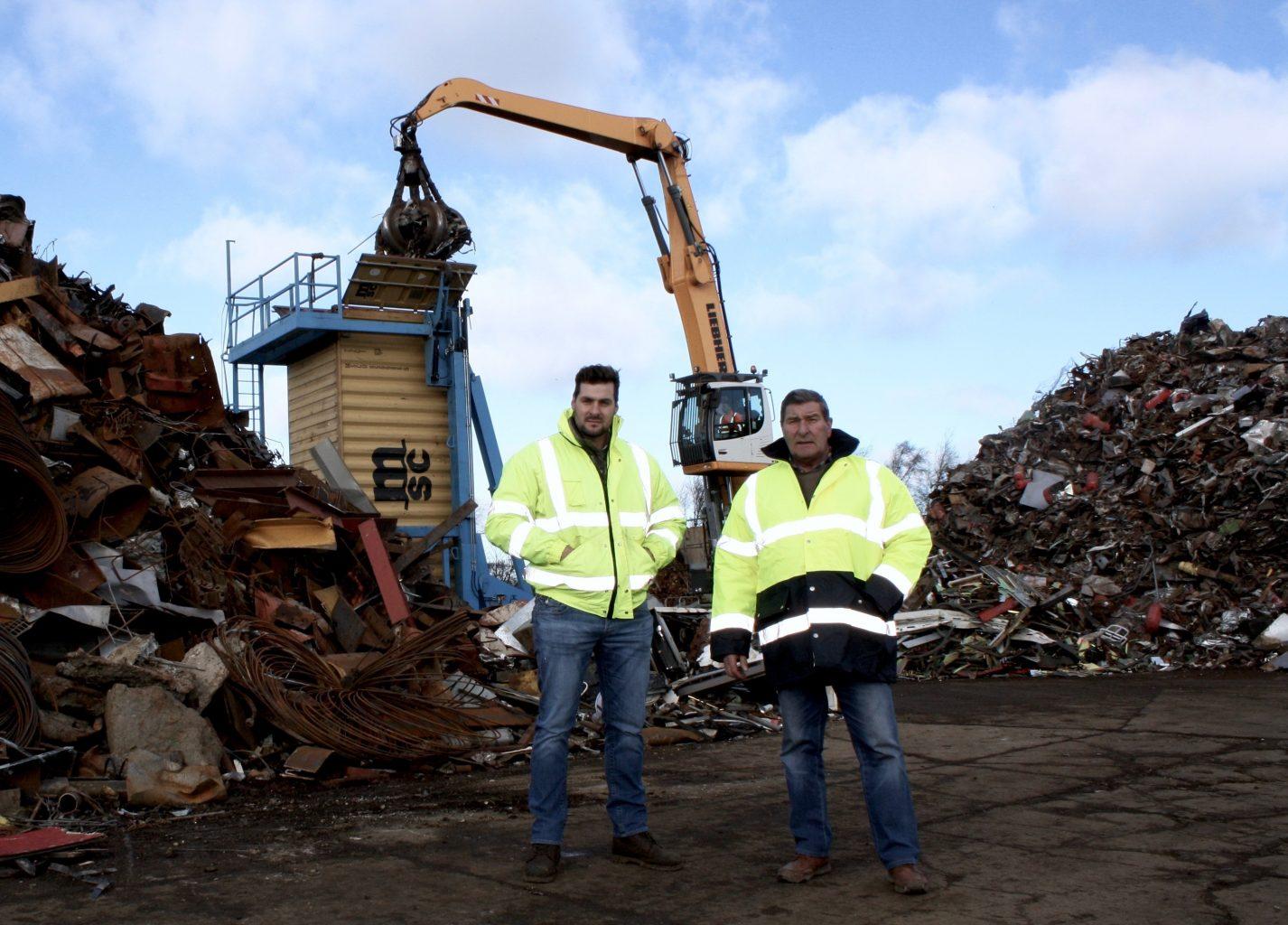 J Denham Metals Joe Denham with son John Denham