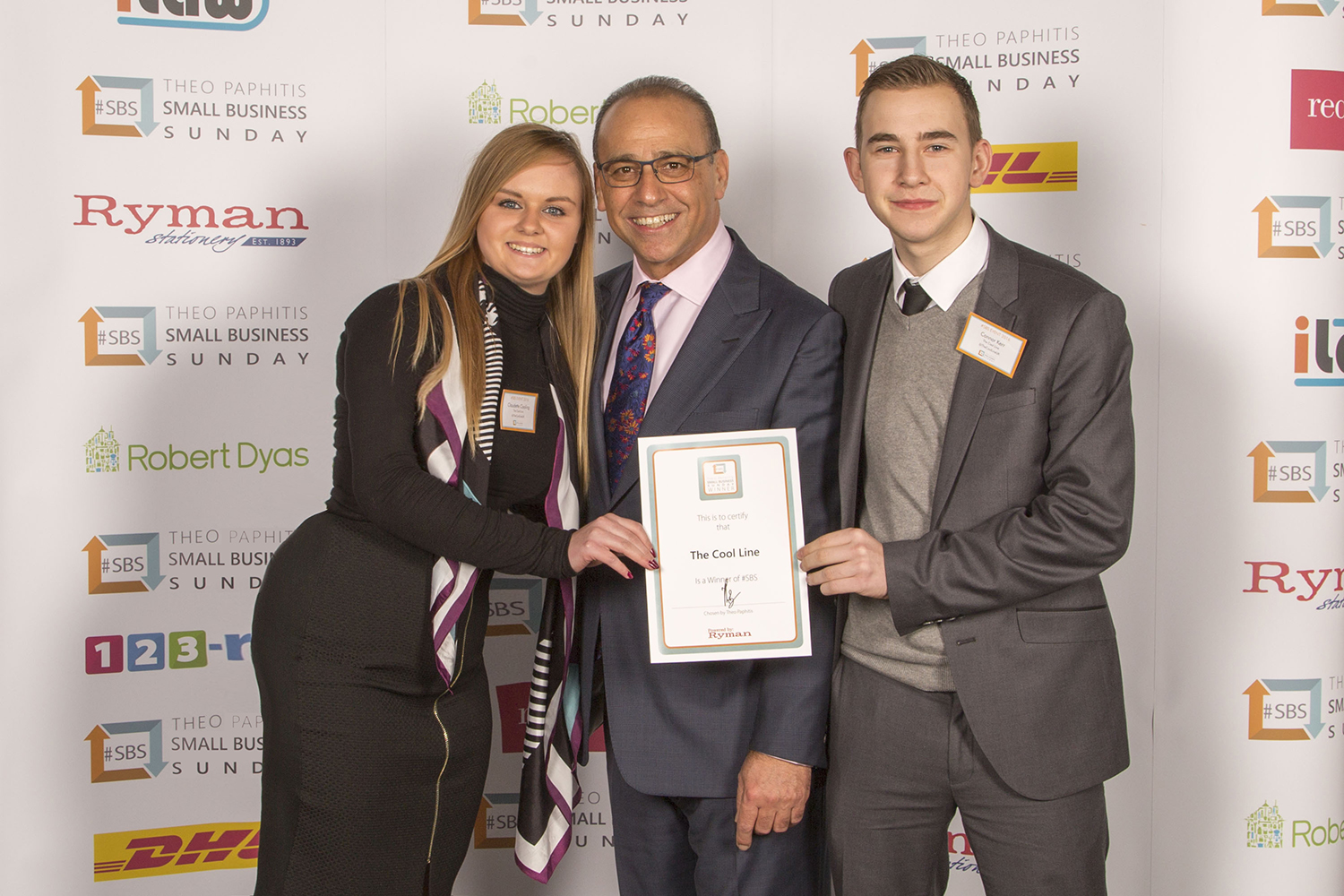 Claudette Cooling and Theo Paphitis